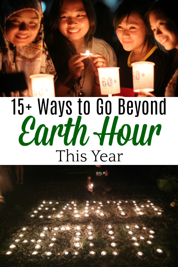 collage of pictures from past Earth Hour events