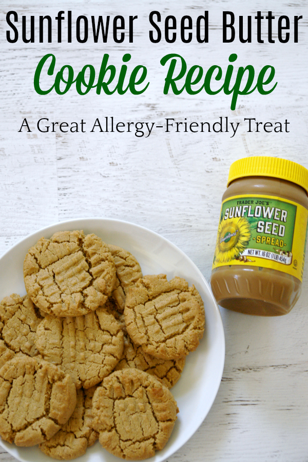 Looking for an allergy-friendly dessert? Try these sunflower seed butter cookies. They are delicious! #peanutallergy #allergies