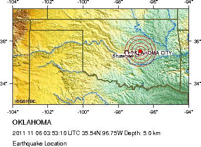Oklahoma Rocked by Record Setting Earthquake
