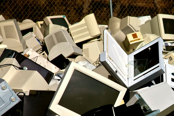 computers in recycling center