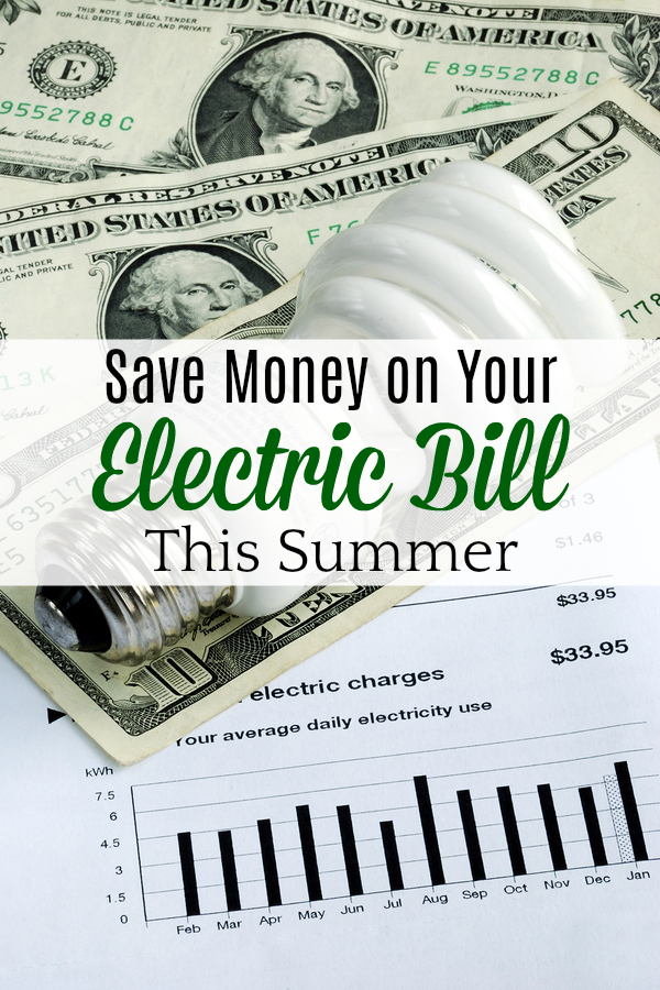 money and CFL light bulb on electric bill