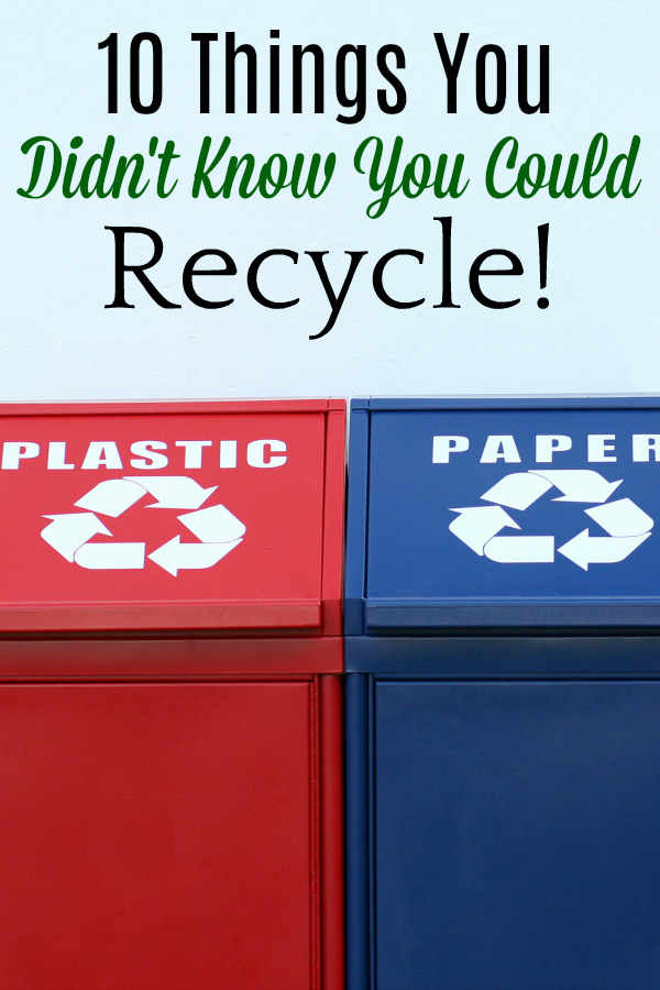 paper and plastic recycling bins