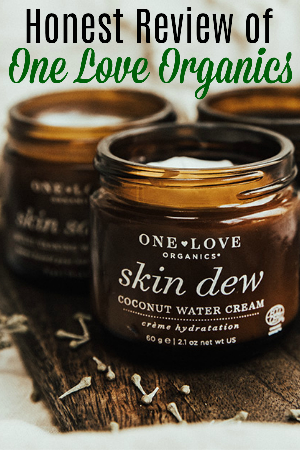 One Love Organics skin care containers