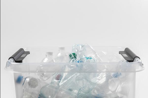 bin full of plastic
