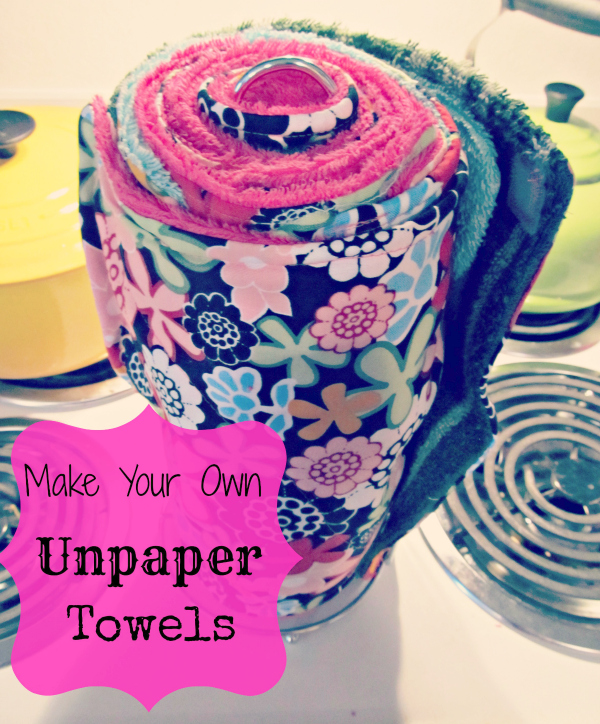 colorful unpaper towels sitting on stove
