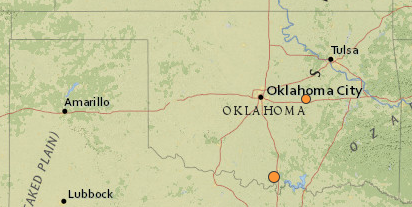 Two Earthquakes Rattle Oklahoma