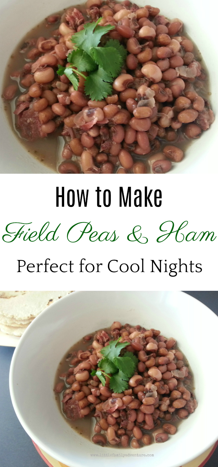 Field peas with ham, how to cook field peas, local Oklahoma farms, eat local