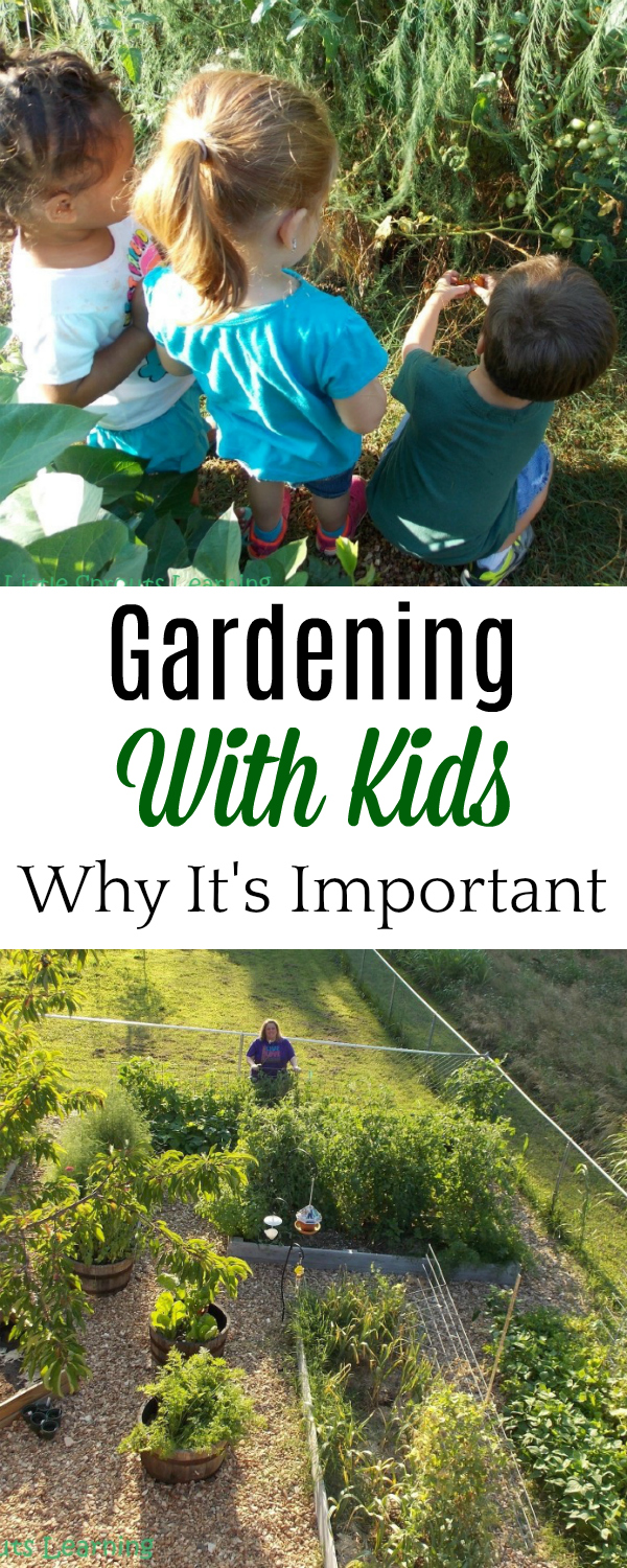 Gardening with kids, why it's important #gardening #parenting