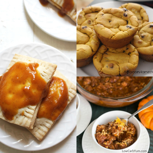 collage of fall pumpkin recipes