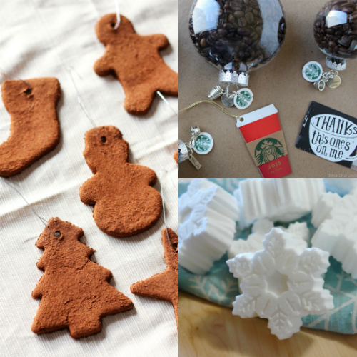 collage of homemade christmas gifts