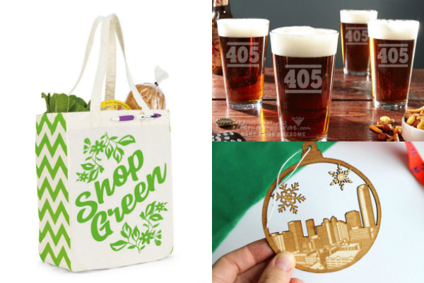 collage of made in Oklahoma gifts