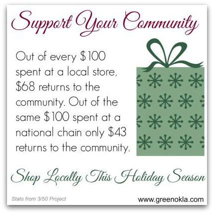 shop local graphic