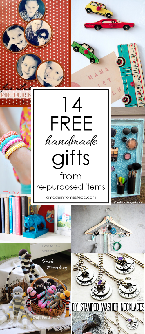 Free Handmade Upcycled Gifts