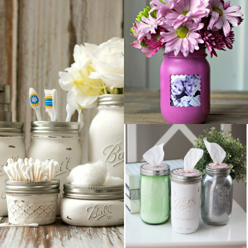 mason jar crafts, glass jar crafts, diy mason jars