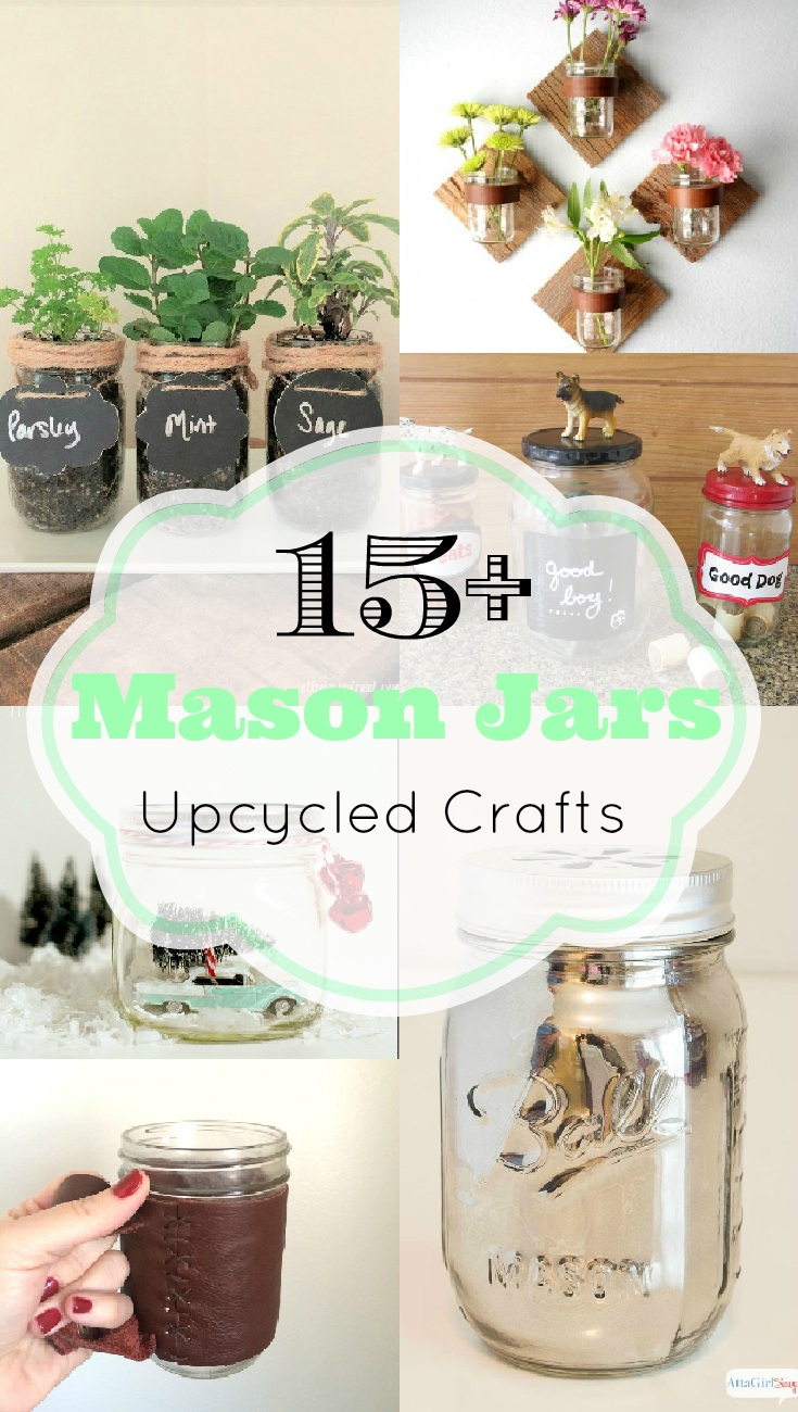 mason jar crafts, glass jar crafts, diy mason jars, upcycled