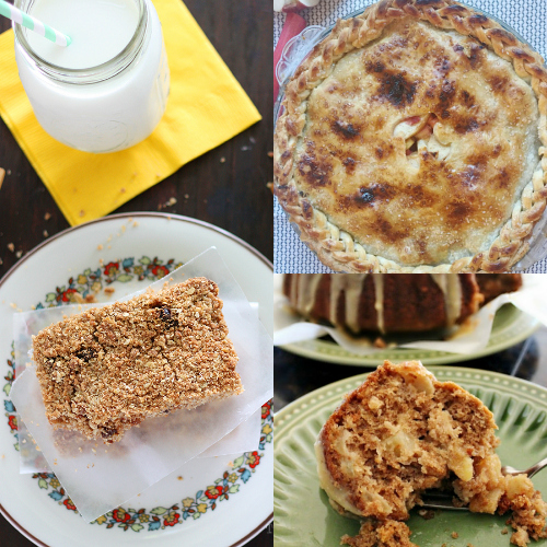 collage of apple recipes