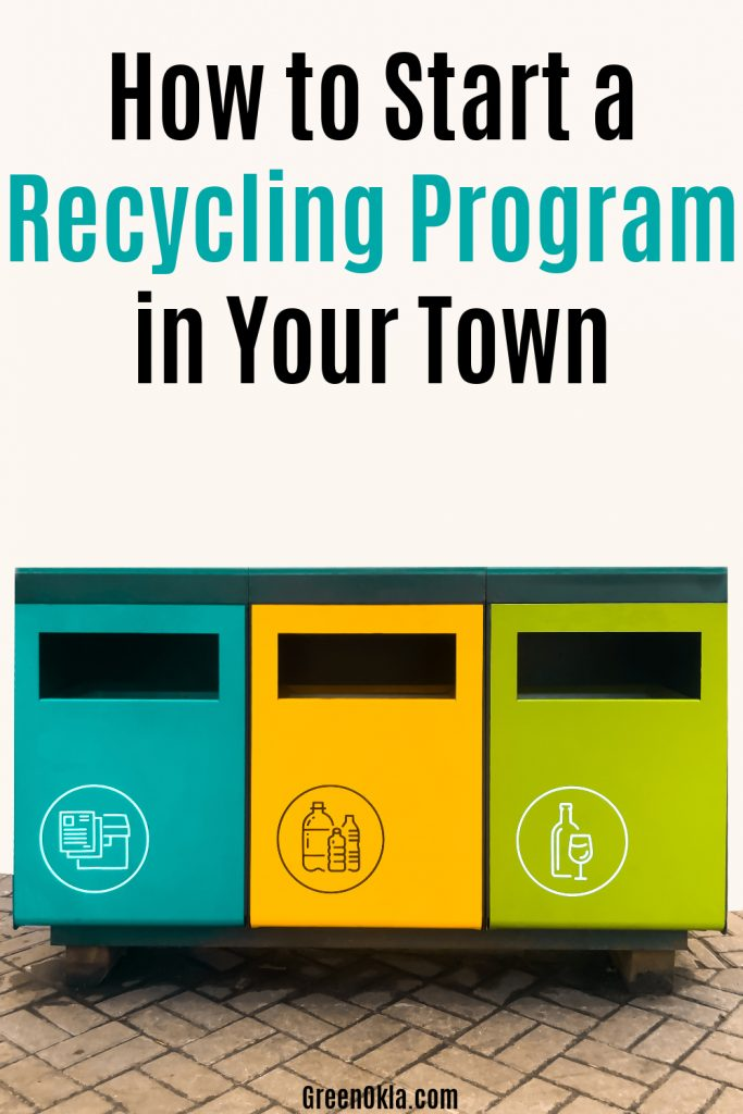 recycling sorting containers. separate waste bins for glass, plastic and paper.