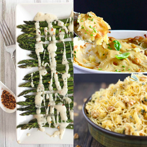 collage of vegetarian thanksgiving recipes