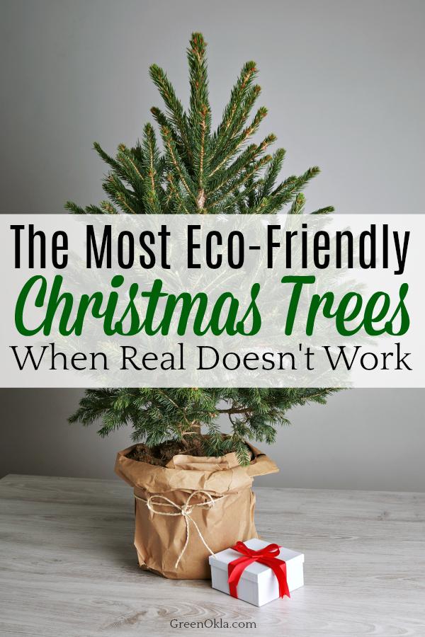 Christmas tree in brown bag