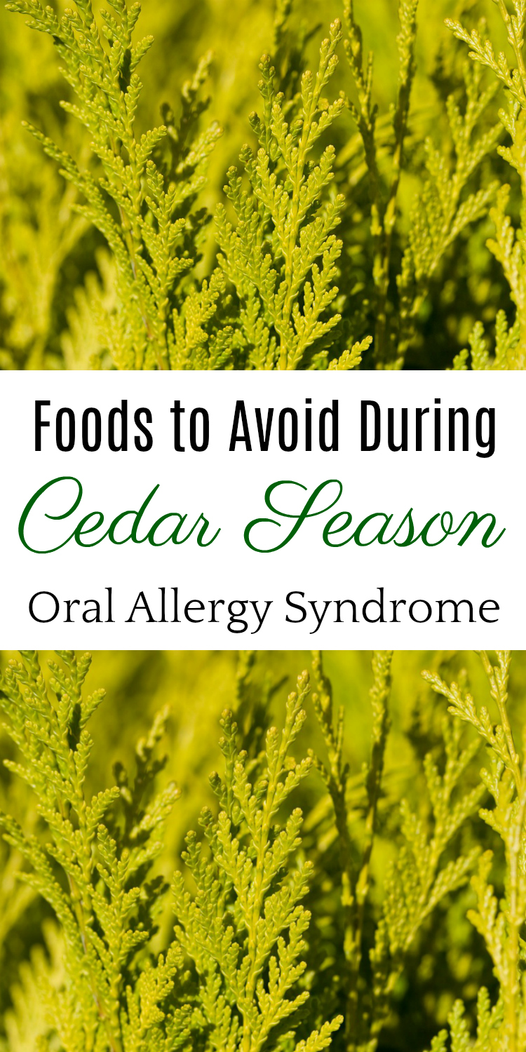 6 Foods to Avoid During Cedar Season, Oral Allergy Syndrome, Natural Health, Cedar Fever #allergies #oralallergysyndrome #naturalhealth