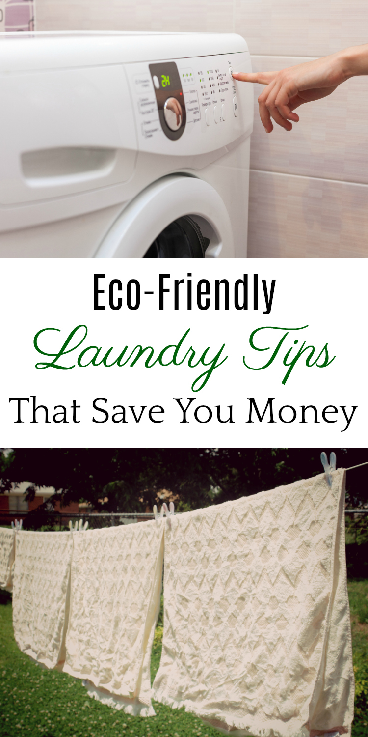 Eco-Friendly Laundry Tips, Save Energy on Laundry, Save Water on Laundry, Save Money on Laundry #greenliving #frugal #laundry