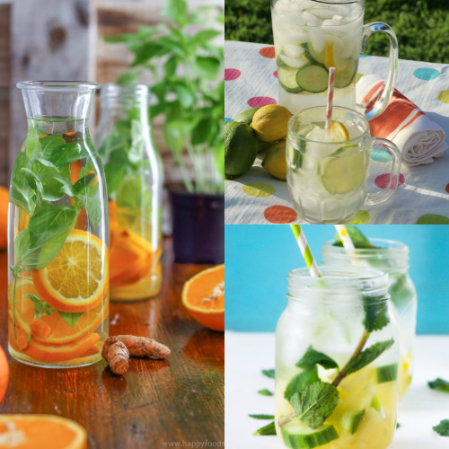 Infused water recipes, drink more water, flavored water