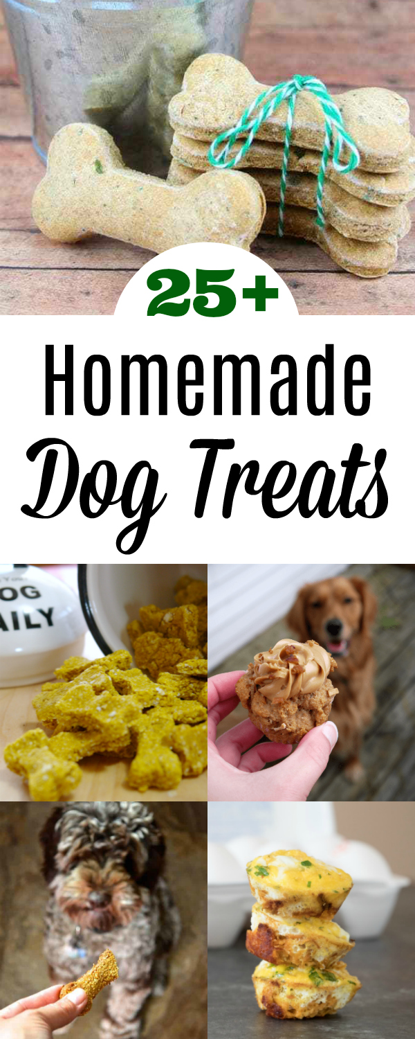 Collage of Homemade Dog Treats