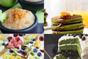 collage of natural st. Patricks day recipes