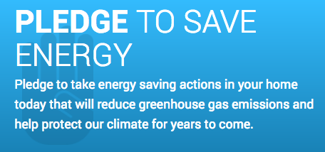Pledge to Save Energy Graphic