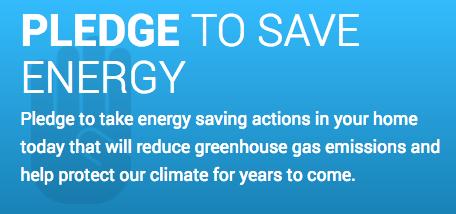 Pledge to Save Energy Graphic