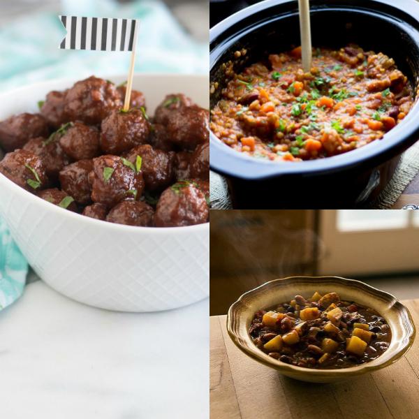 collage of vegan food
