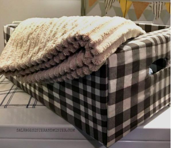 cardboard box laundry basket