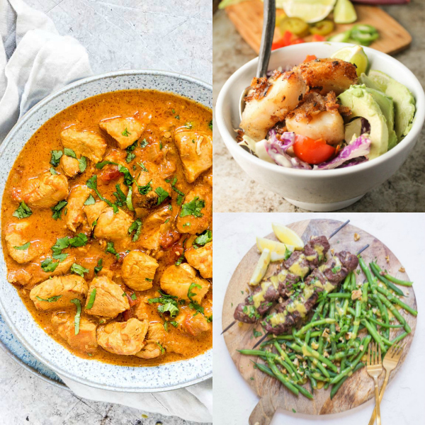 Collage of whole30 dishes