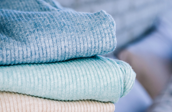 Four sweaters shot close up