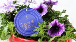 How to Make Garden Markers from Tin Can Lids