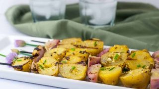 Grilled Lemon Garlic Potato Kabobs