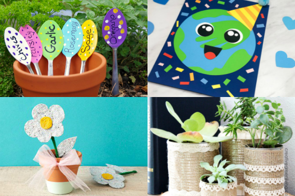collage of Earth Day activities