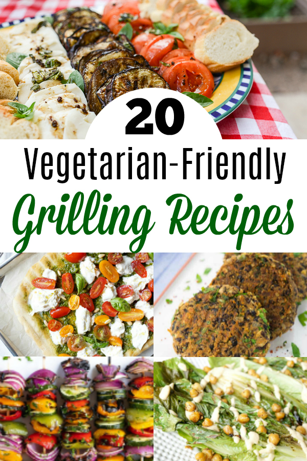collage of vegetarian grilling recipes