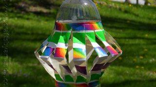 Recycled Plastic Bottle Wind Spinner