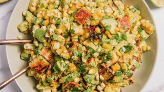 Grilled Corn and Halloumi Salad