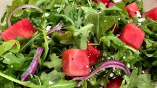 Arugula Watermelon and Feta Summer Salad