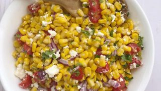 Easy Summer Corn Salad with Tomatoes