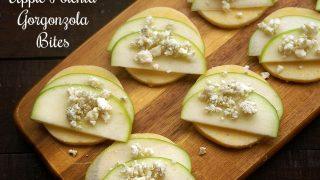 Apple Polenta Gorgonzola Bites
