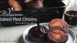 Balsamic Baked Red Onions