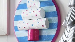 Toilet Paper Roll Christmas Tree Plaque