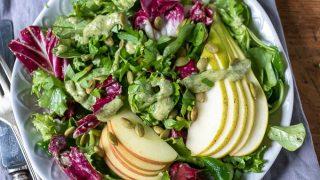Green Salad with Pumpkin Seed (Pepita) Dressing