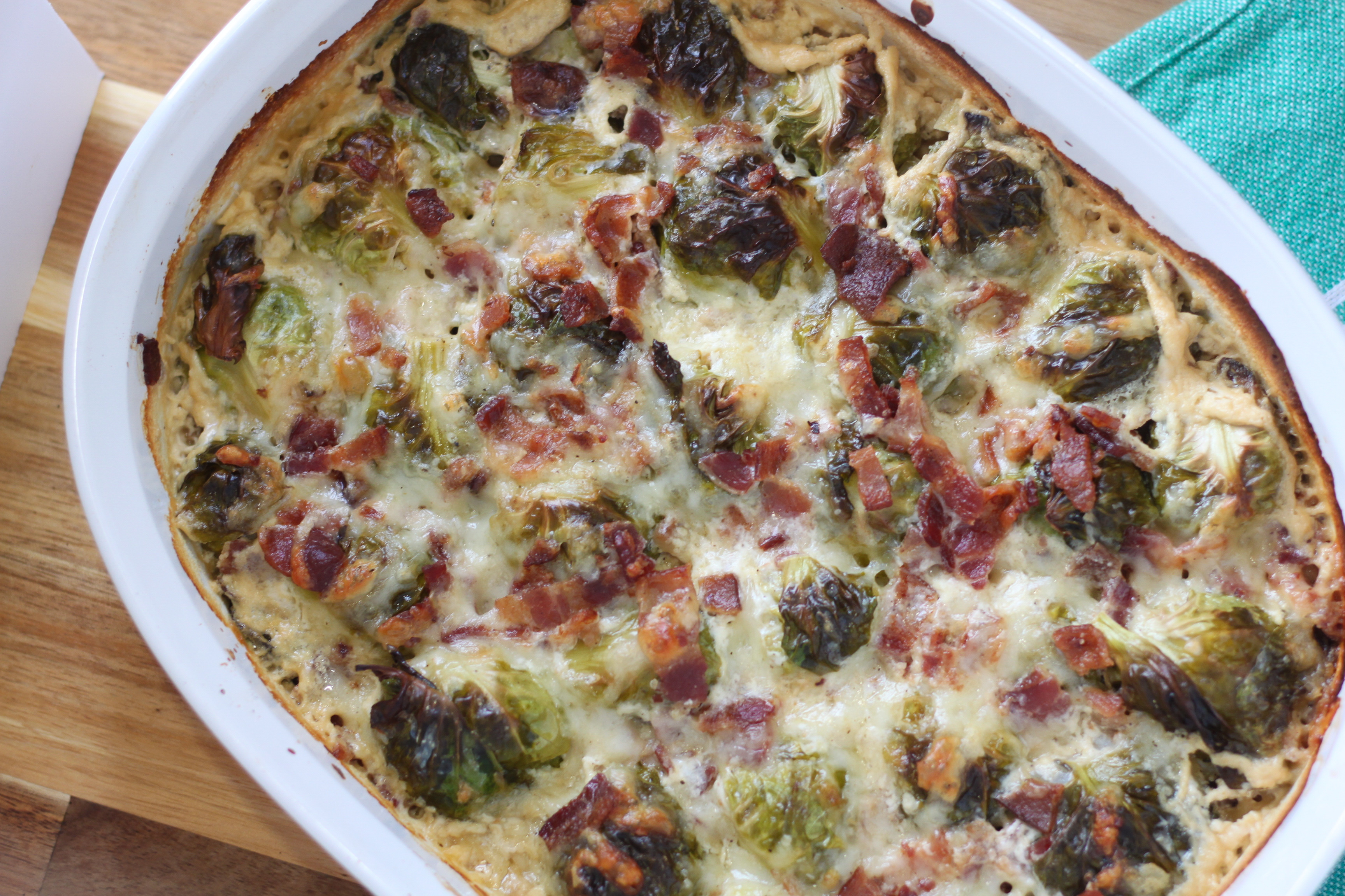 Creamy Roasted Bacon Brussel Sprouts