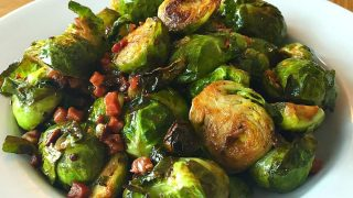 Brussel Sprouts with Pancetta and Red Wine Vinaigrette
