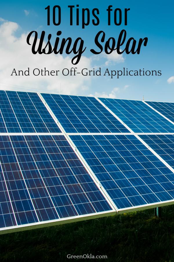 solar panels on the grass