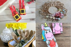 toilet paper roll crafts collage